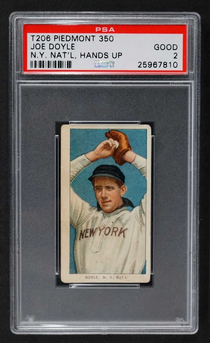1909-11 T206 Joe Doyle Piedmont 350 N.Y. Nat'l Hand Up