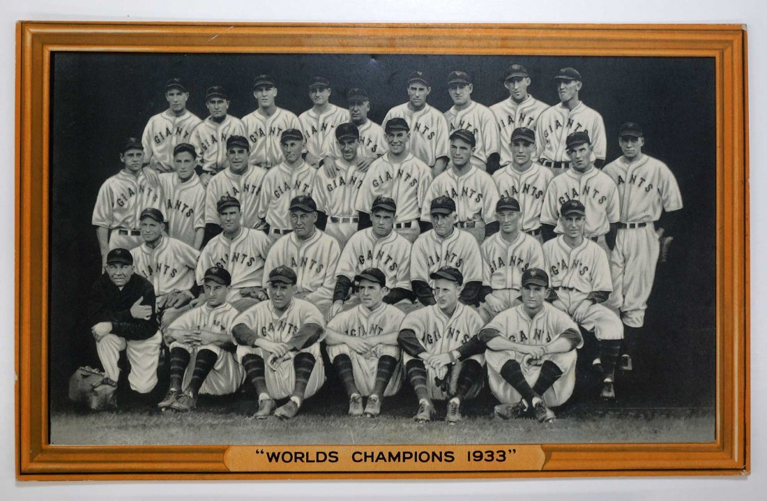 New York Giants ''World Champions 1933'' 1933 R309-1