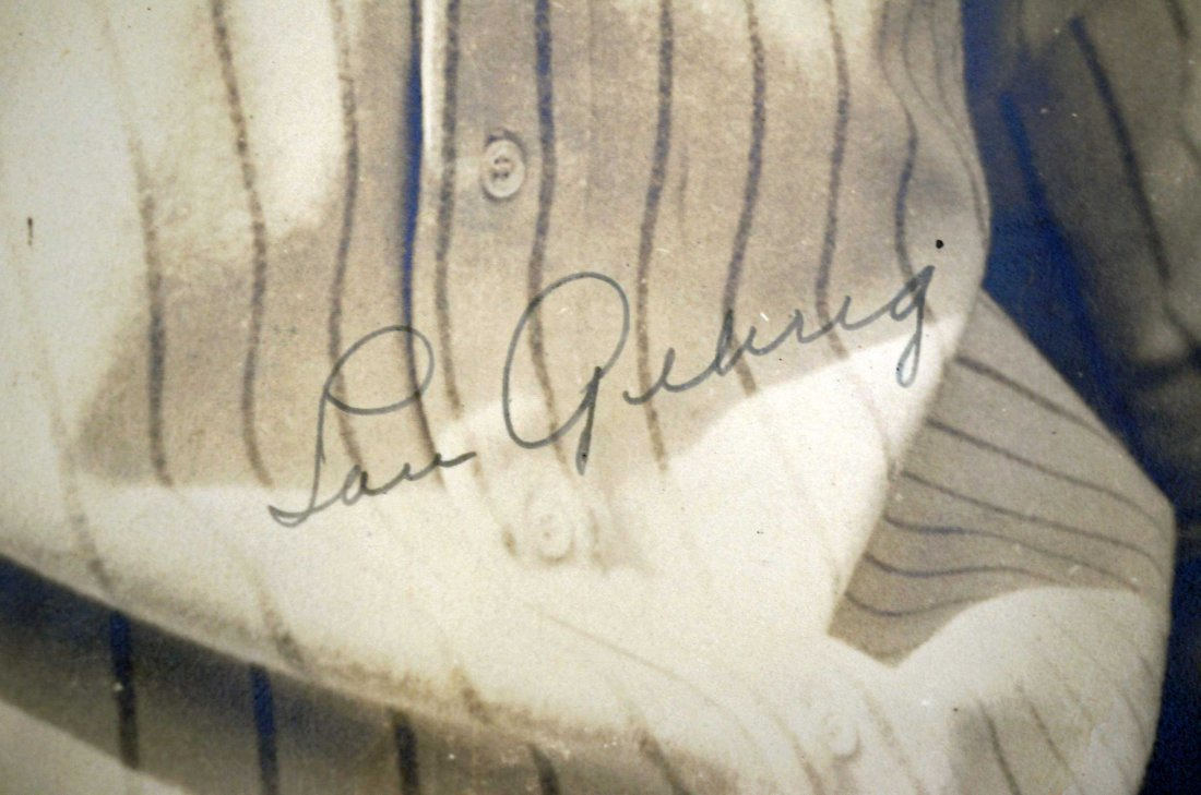 Lou Gehrig Signed Photograph. Just found in an upper - 3