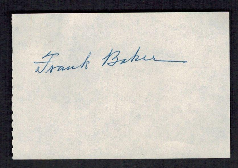 Frank (Home Run) Baker Cut Signature. 2.5'' x 4'',
