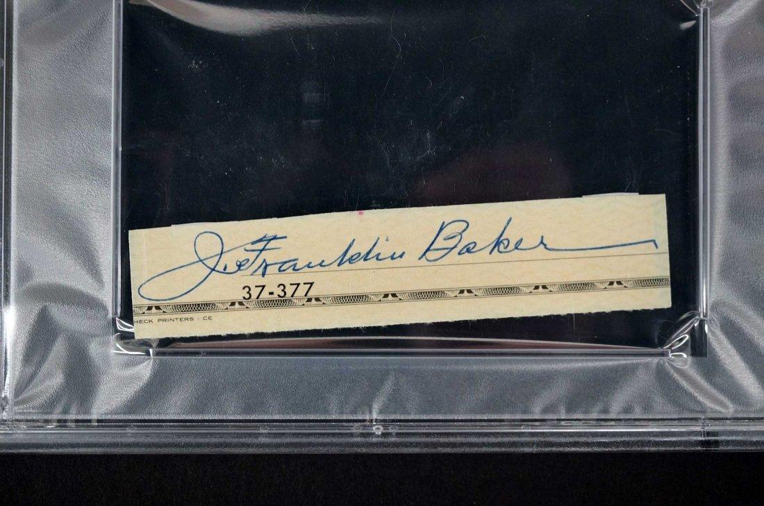 Frank (Home Run) Baker Signed Check Strip. PSA/DNA Mint - 2