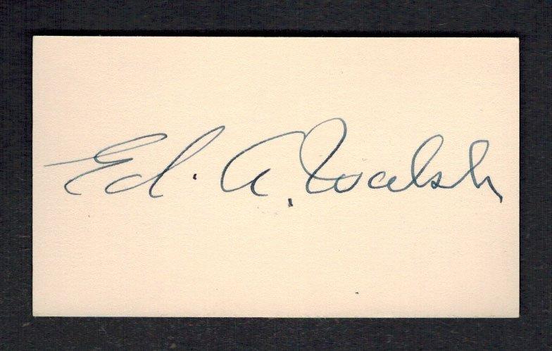 Ed A. Walsh Cut Signature. 2'' x 3.5'', NM/NM-MT or