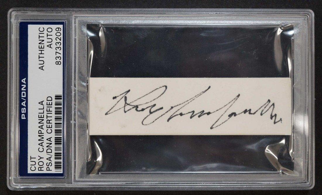 Roy Campanella Cut Signature. PSA/DNA authentic.