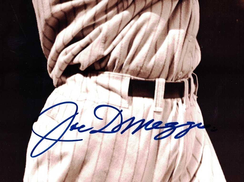 Joe Dimaggio Signed Photograph. Unframned, 10'' x 8'', - 2