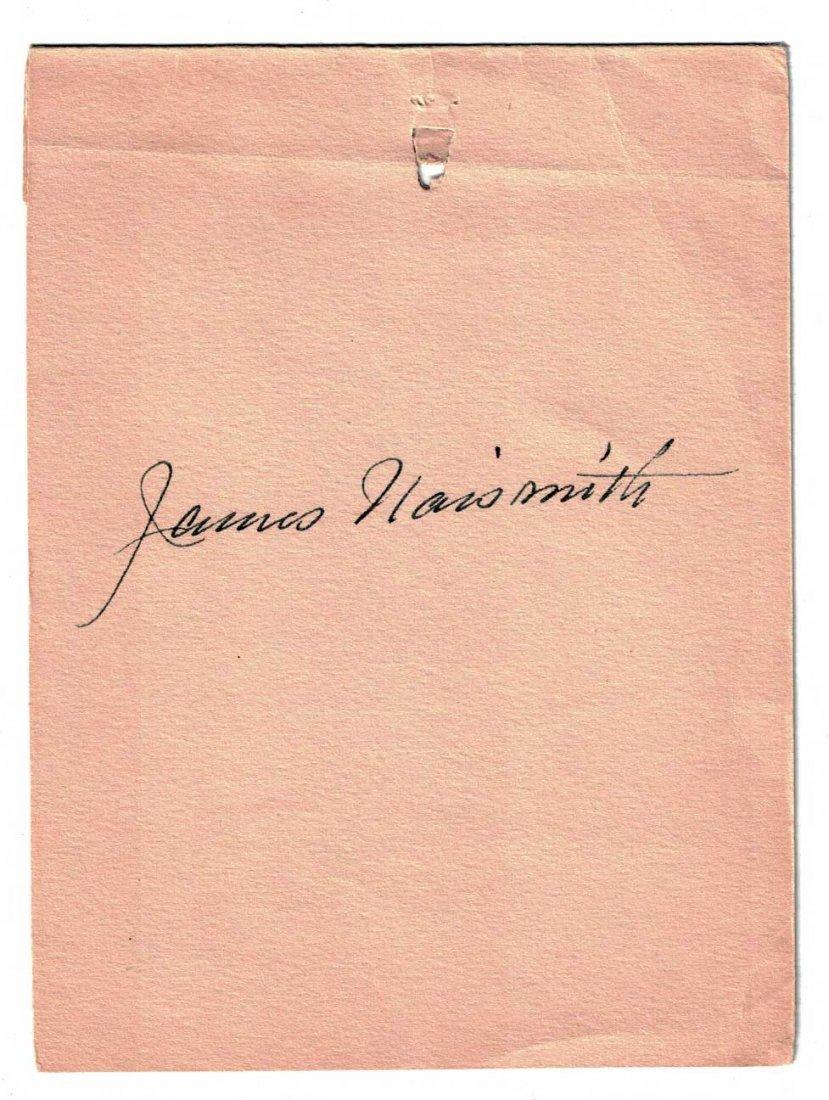James Naismith Autographed Banquet Program. Nice Pen