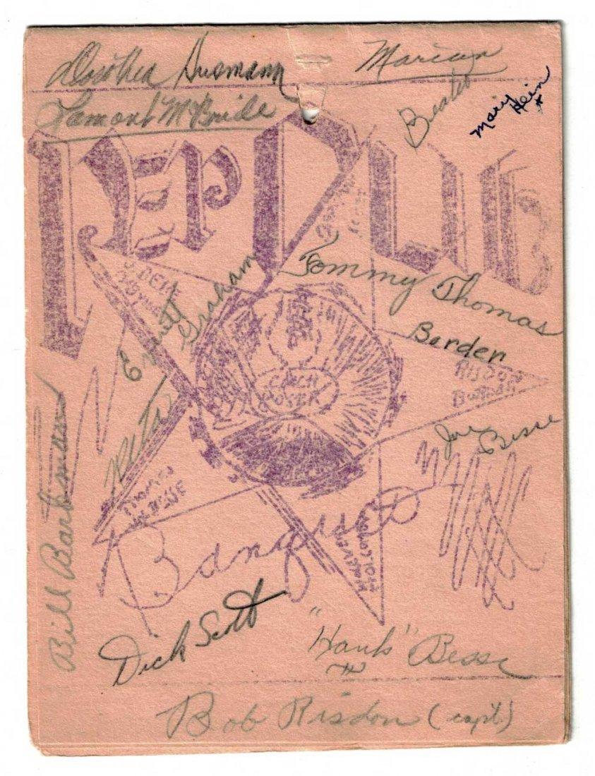 James Naismith Autographed Banquet Program. Nice Pen - 2