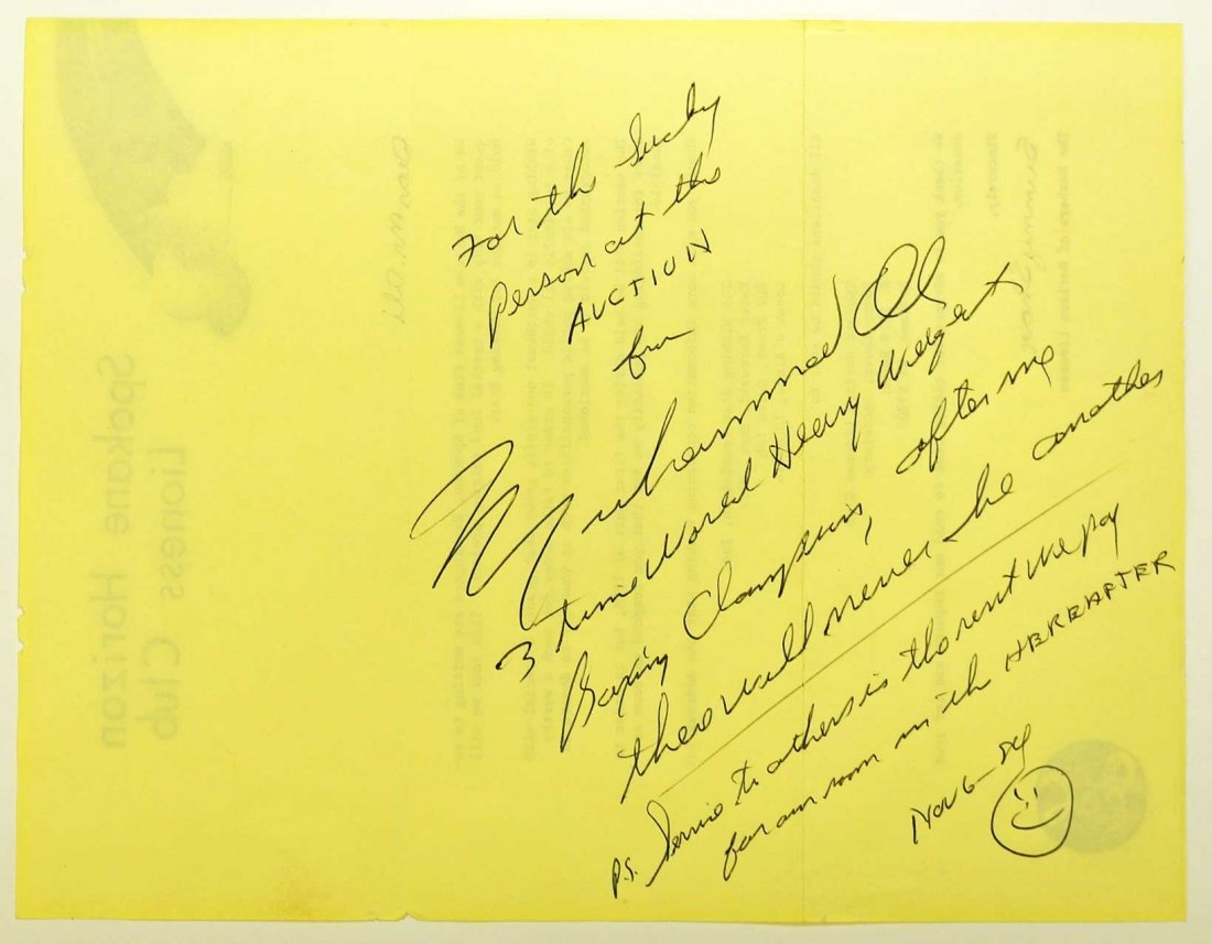 Muhammad Ali Signed and Inscribed Letter with