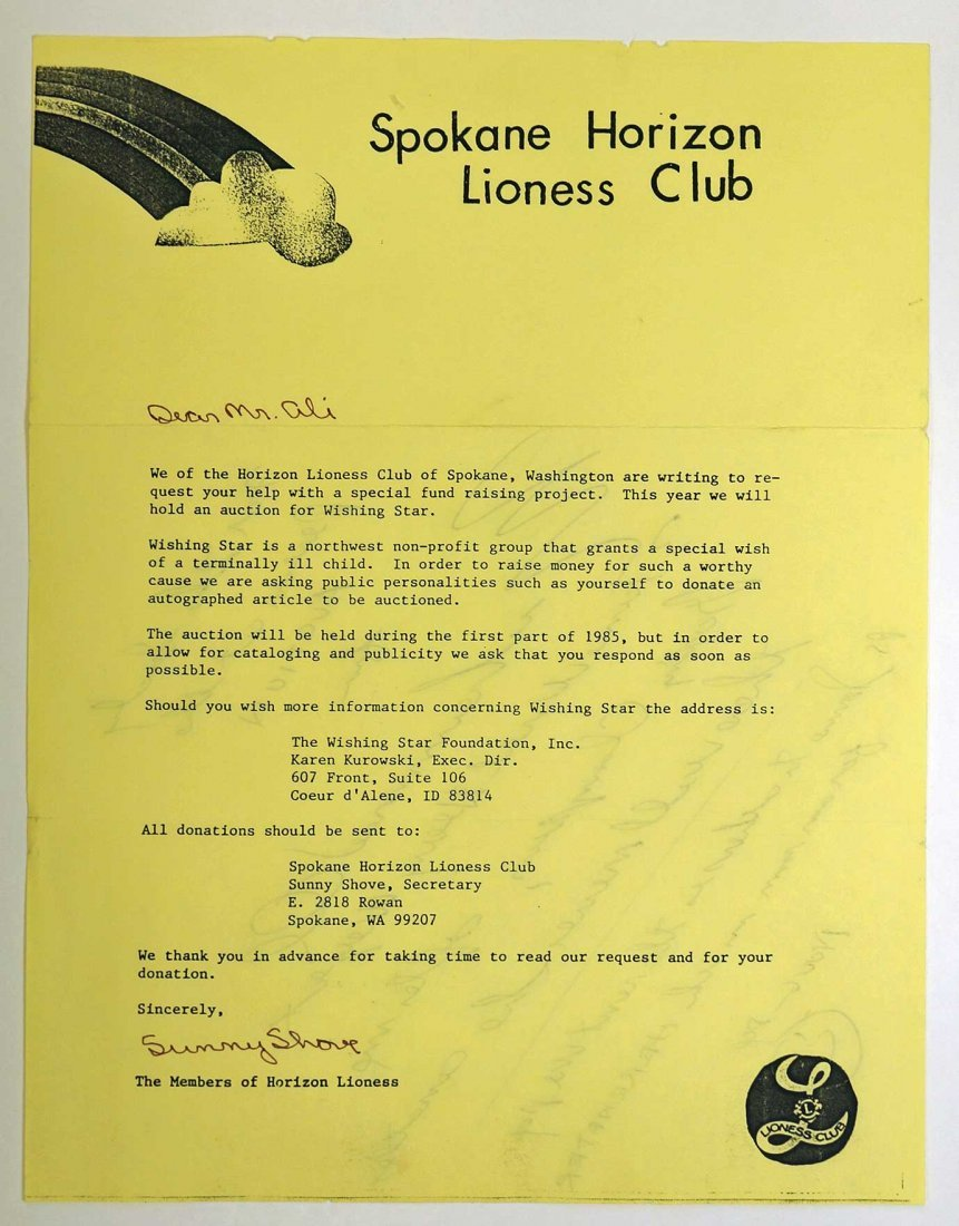 Muhammad Ali Signed and Inscribed Letter with - 2