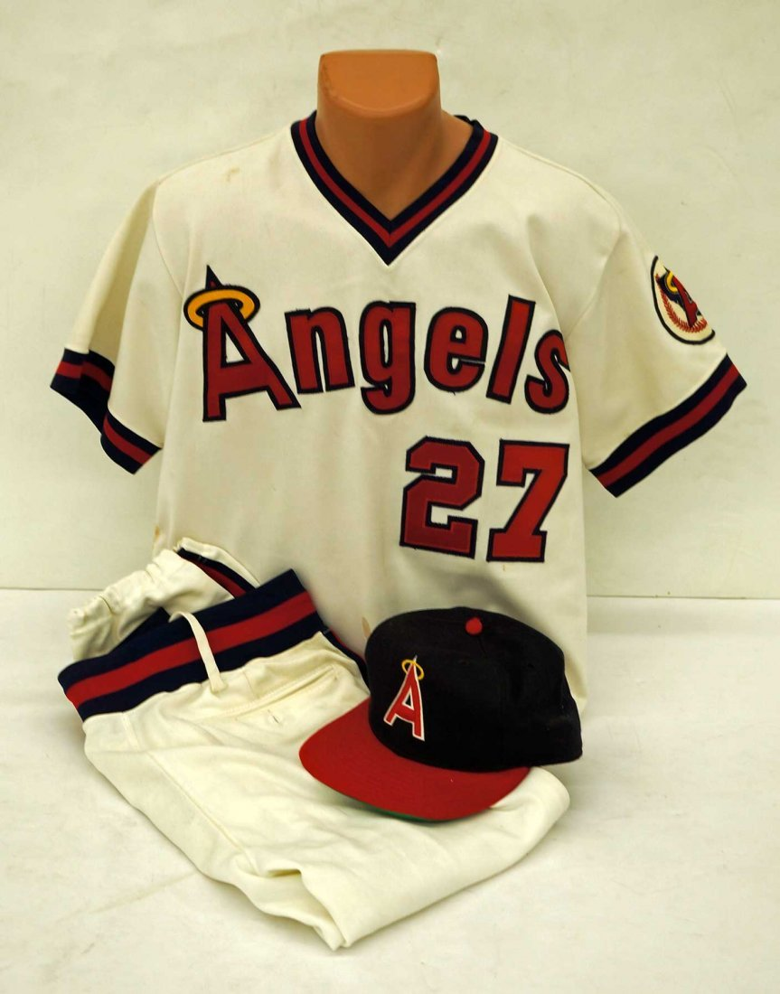 Bubba Morton California Angels Old Timers Game Uniform.
