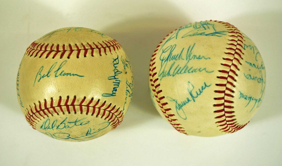 Seattle Angels Pair of Signed Team Baseballs. Both