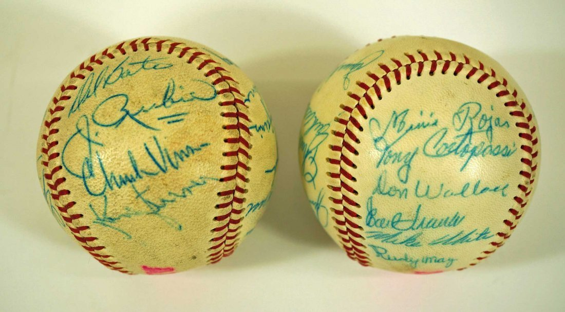 Seattle Angels Pair of Signed Team Baseballs. Both - 2