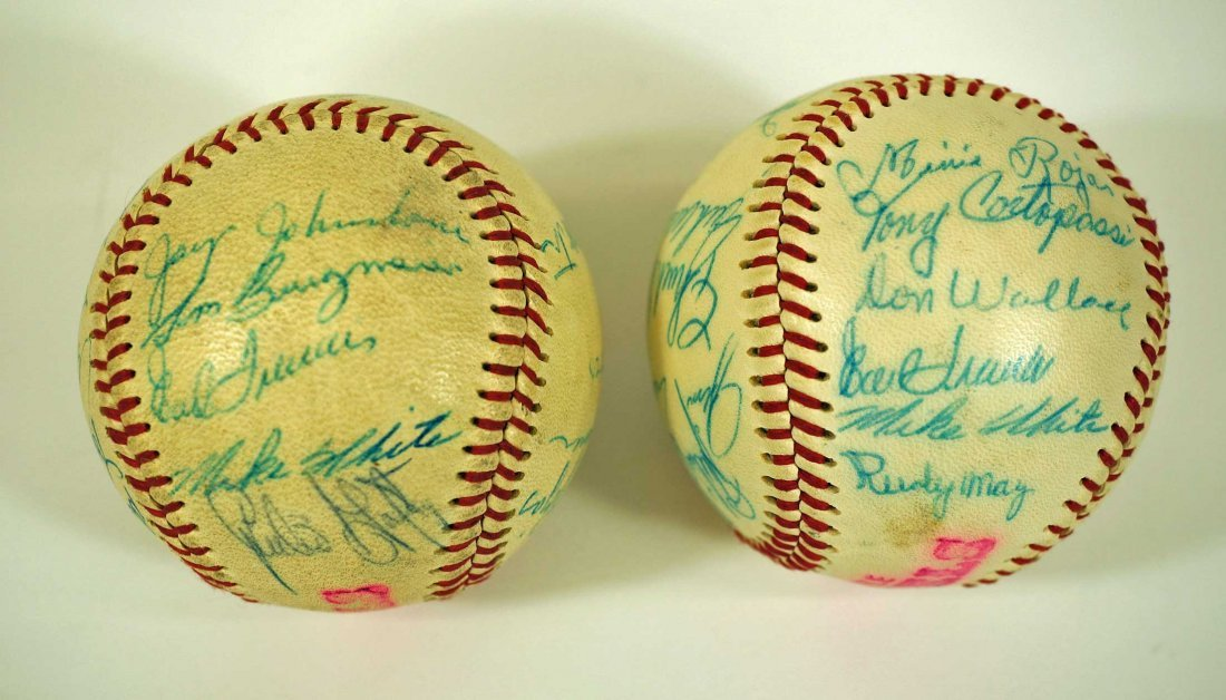 Seattle Angels Pair of Signed Team Baseballs. Both - 4