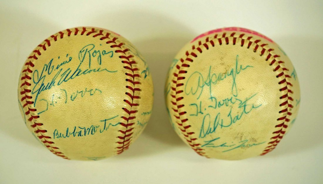 Seattle Angels Pair of Signed Team Baseballs. Both - 5