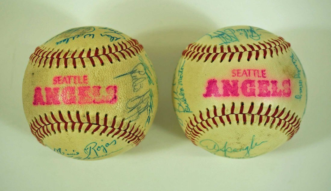 Seattle Angels Pair of Signed Team Baseballs. Both - 6