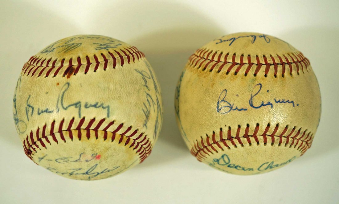 Los Angeles Angels Pair of Team Signed Baseballs. From