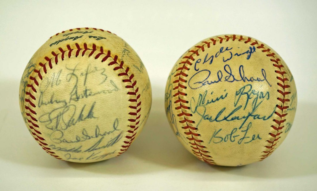 Los Angeles Angels Pair of Team Signed Baseballs. From - 2