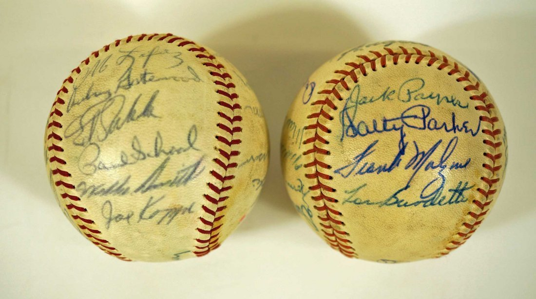 Los Angeles Angels Pair of Team Signed Baseballs. From - 3