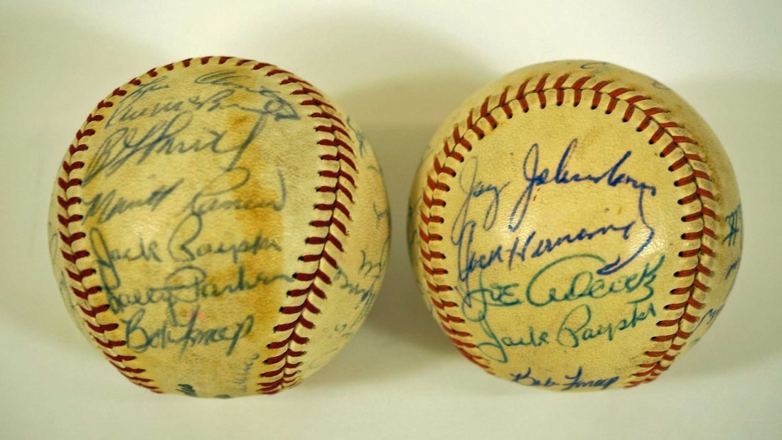 Los Angeles Angels Pair of Team Signed Baseballs. From - 4