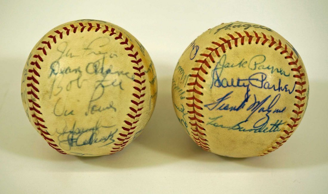 Los Angeles Angels Pair of Team Signed Baseballs. From - 5