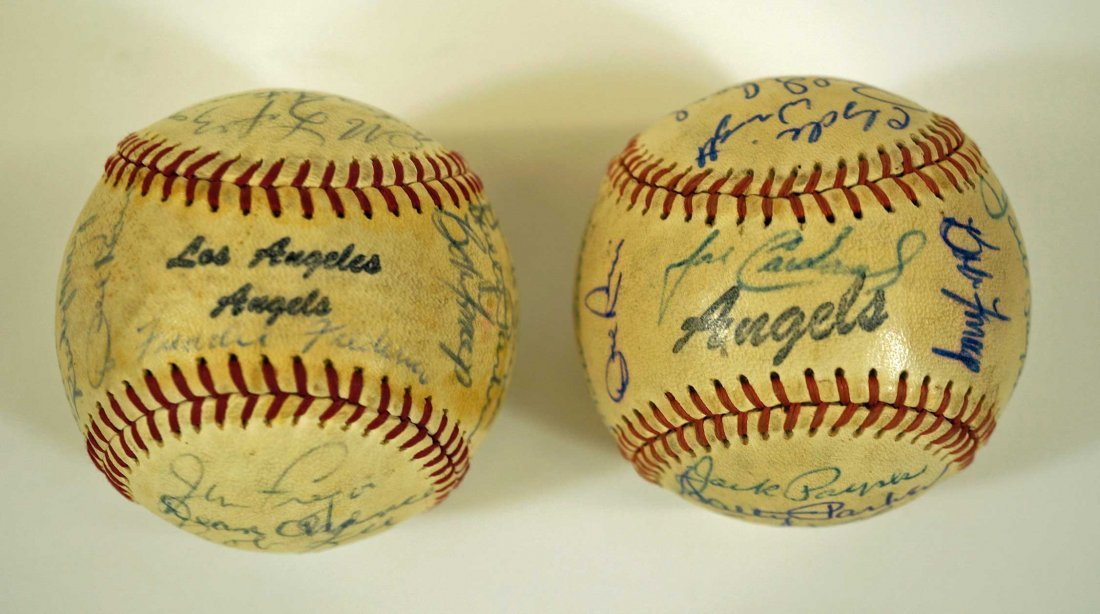 Los Angeles Angels Pair of Team Signed Baseballs. From - 6
