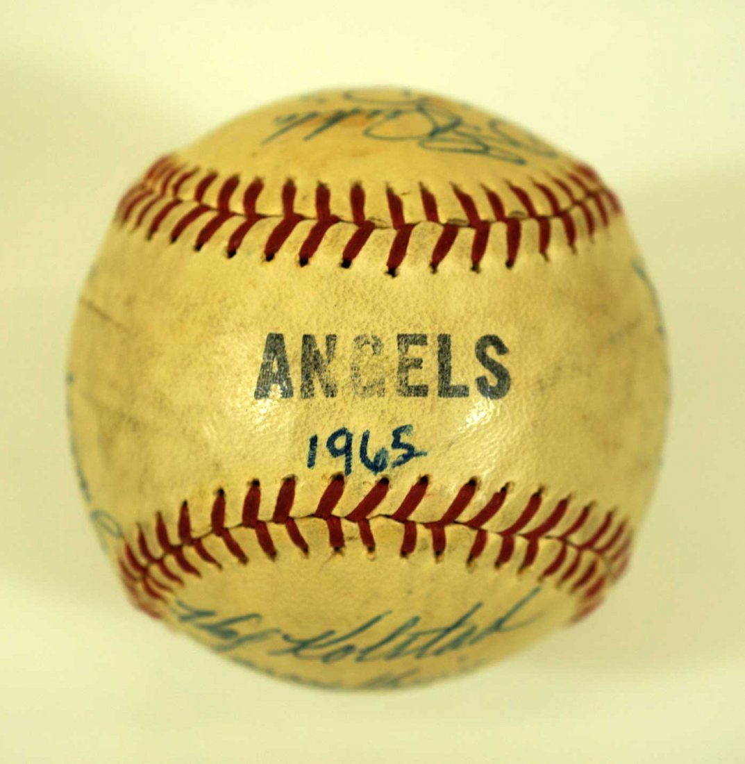 1965 Seattle Angels Team Signed Baseball. Ball contains