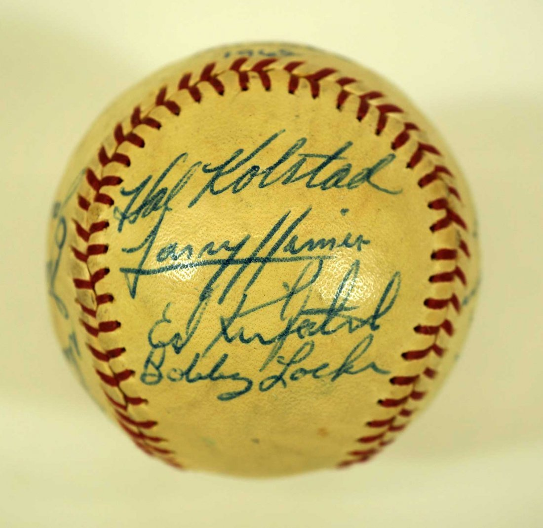 1965 Seattle Angels Team Signed Baseball. Ball contains - 2
