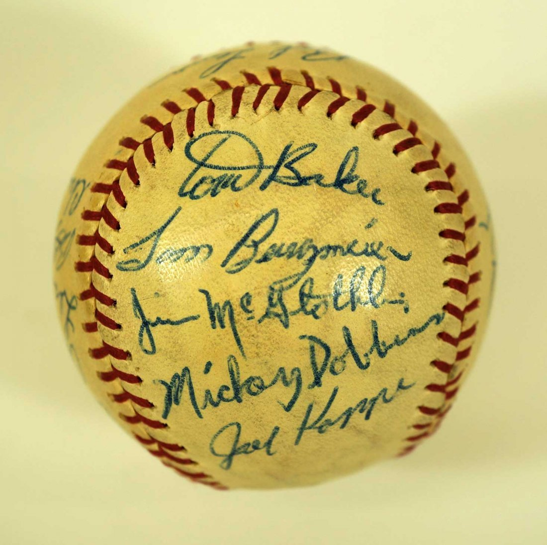 1965 Seattle Angels Team Signed Baseball. Ball contains - 3