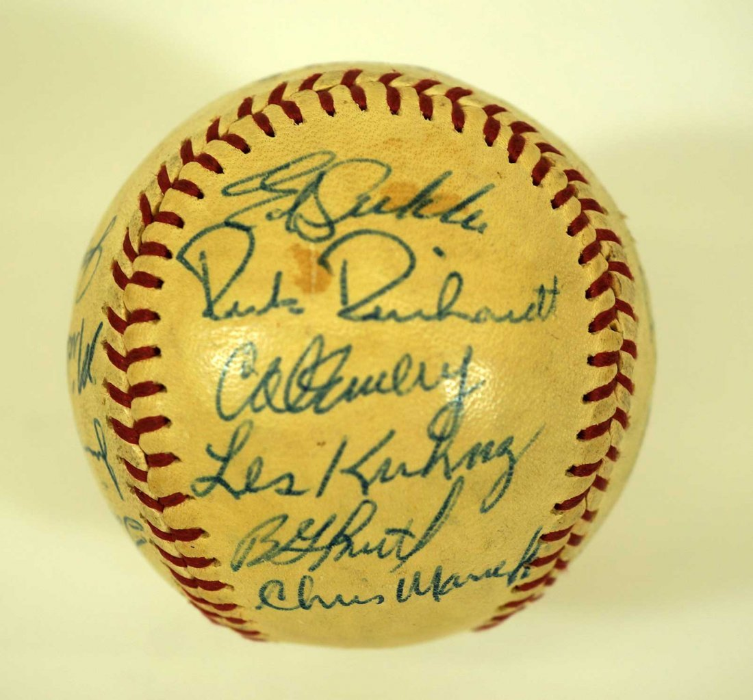 1965 Seattle Angels Team Signed Baseball. Ball contains - 4
