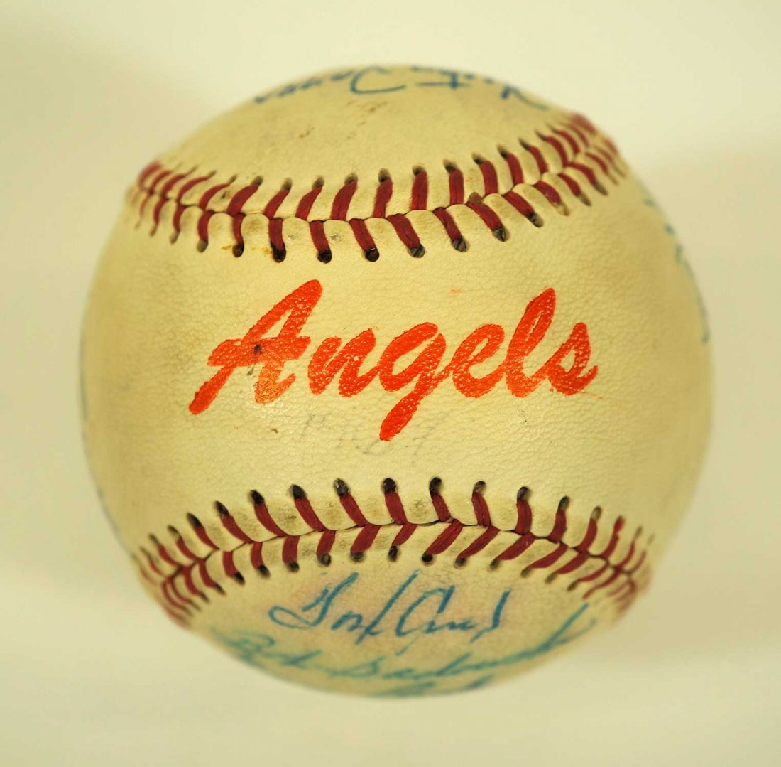 1967 Seattle Angels Team Signed Baseball. Ball includes