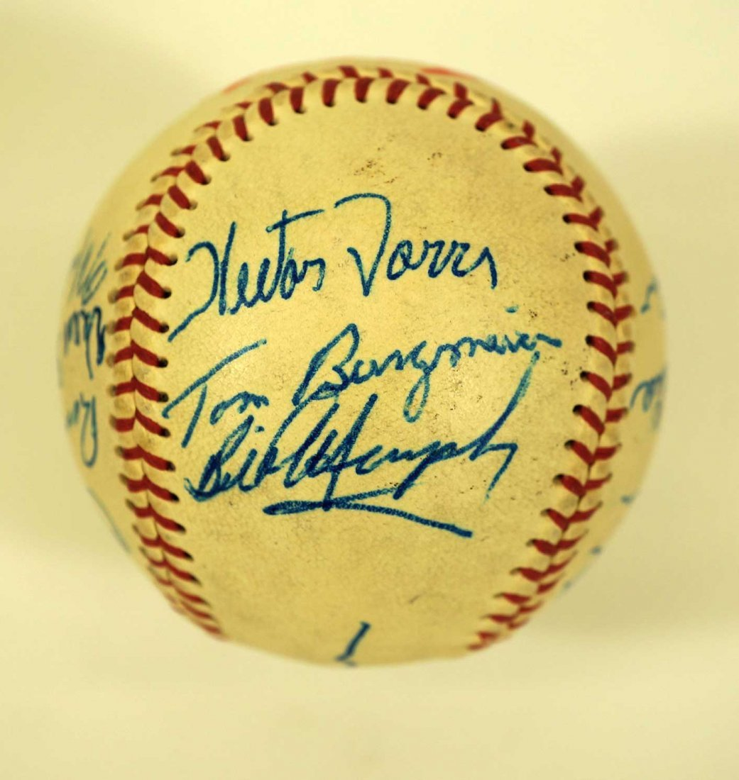 1967 Seattle Angels Team Signed Baseball. Ball includes - 3