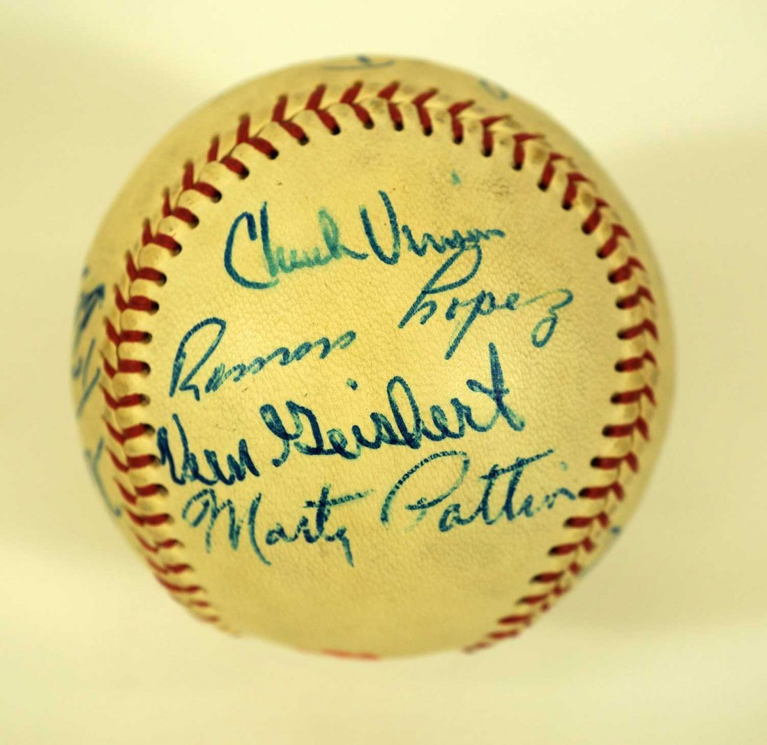 1967 Seattle Angels Team Signed Baseball. Ball includes - 4