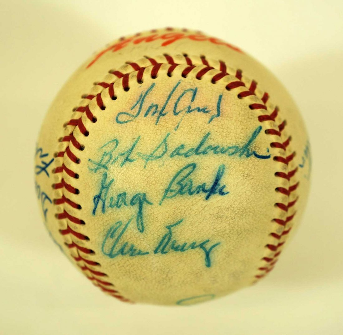 1967 Seattle Angels Team Signed Baseball. Ball includes - 5