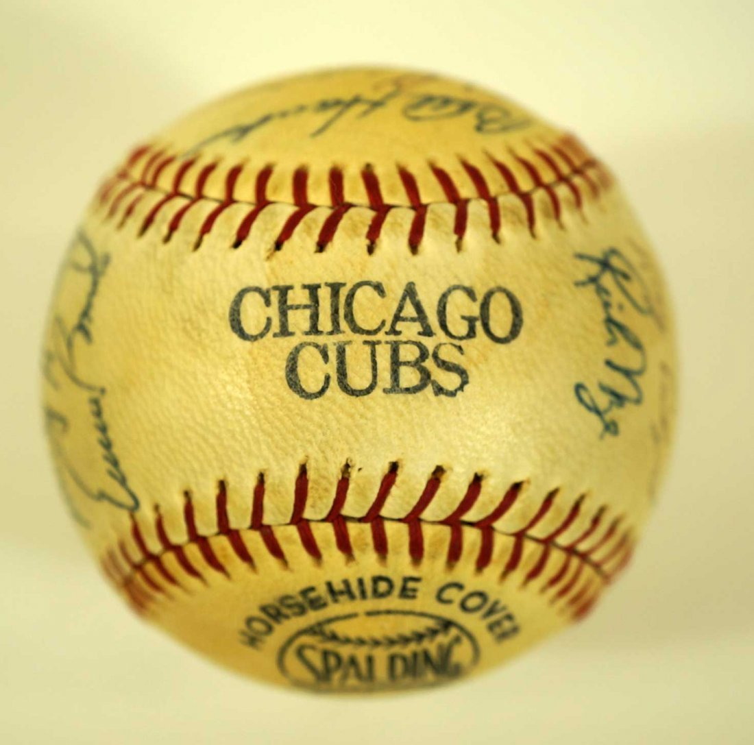 1967 Chicago Cubs Team Signed Baseball. Ball contains