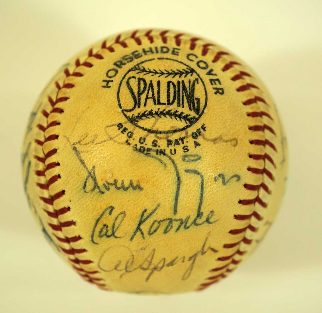 1967 Chicago Cubs Team Signed Baseball. Ball contains - 2