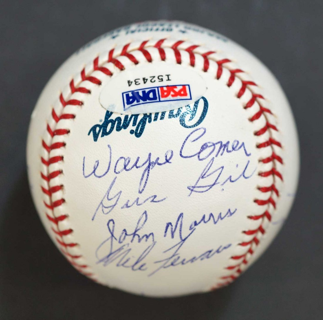 Seattle Pilots Team Members Signed Baseball. Signed by - 4