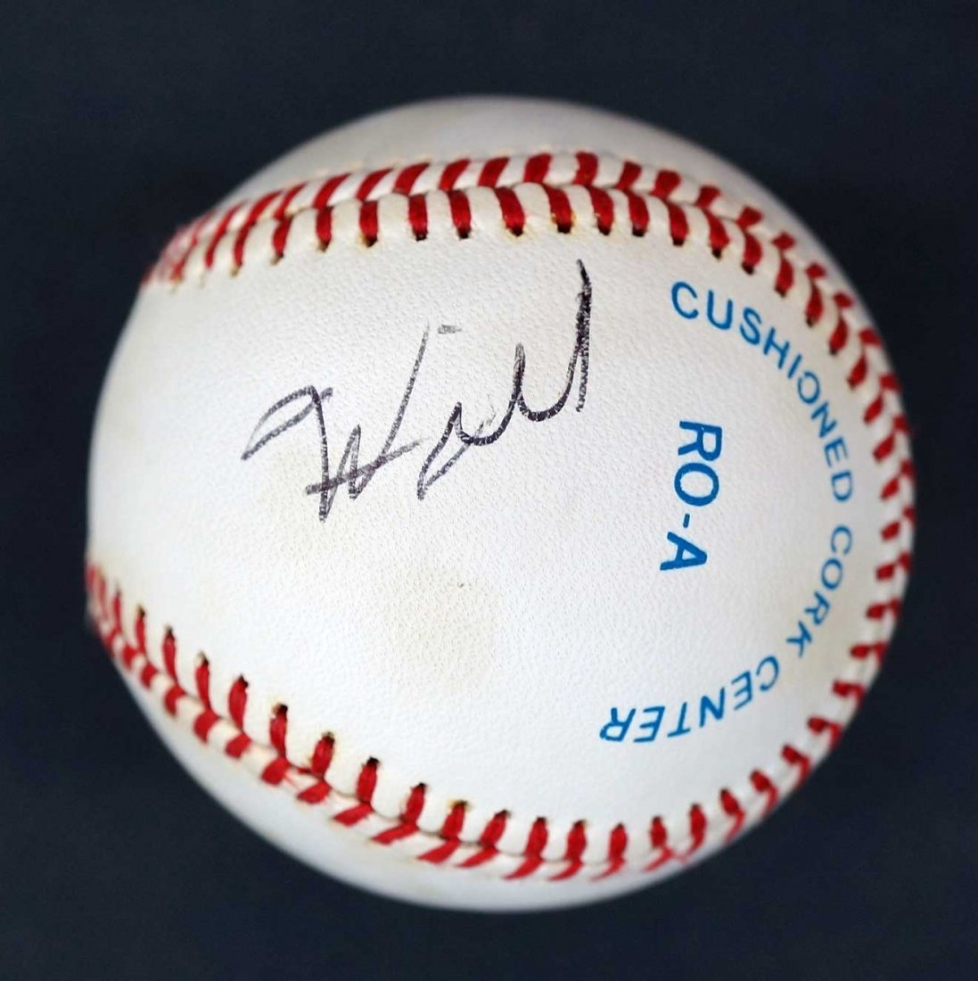Wilt Chamberlain Single Signed Baseball. Signed