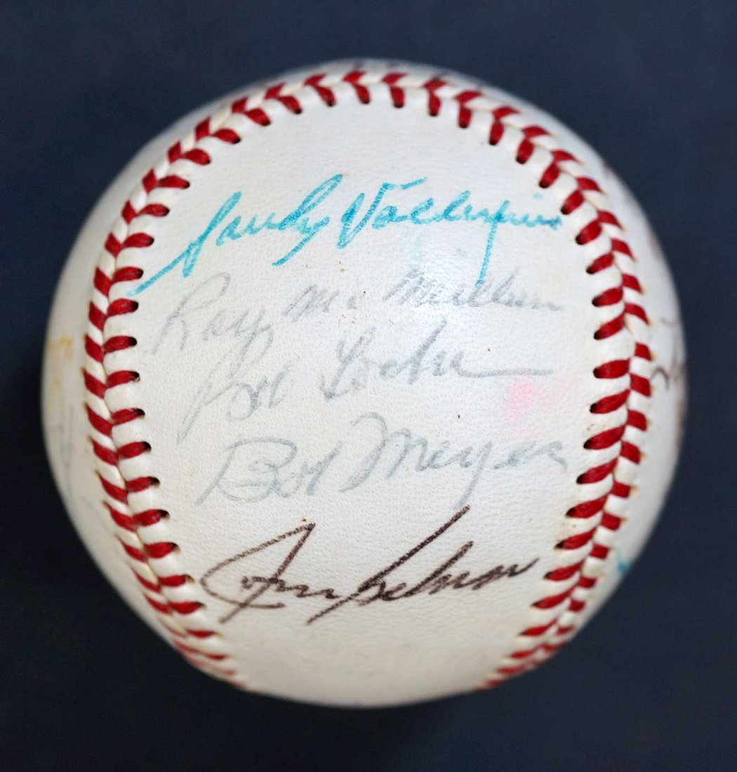 1970 Milwaukee Brewers Team Signed Baseball. Includes - 3