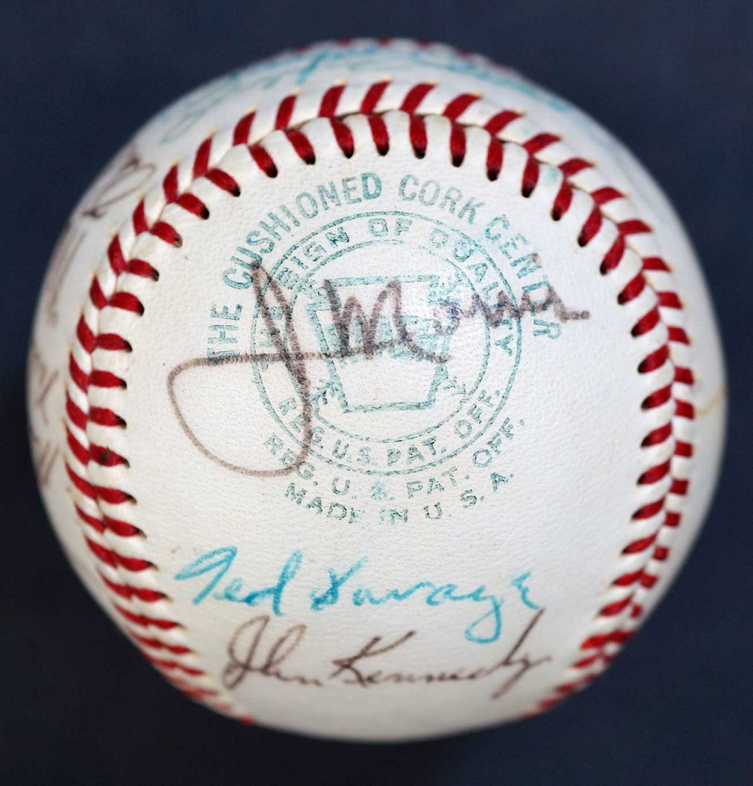 1970 Milwaukee Brewers Team Signed Baseball. Includes - 4