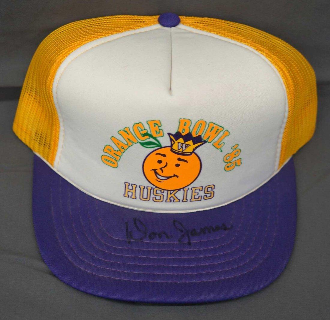 Don James Signed Orange Bowl Baaseball Hat. EX-MT.