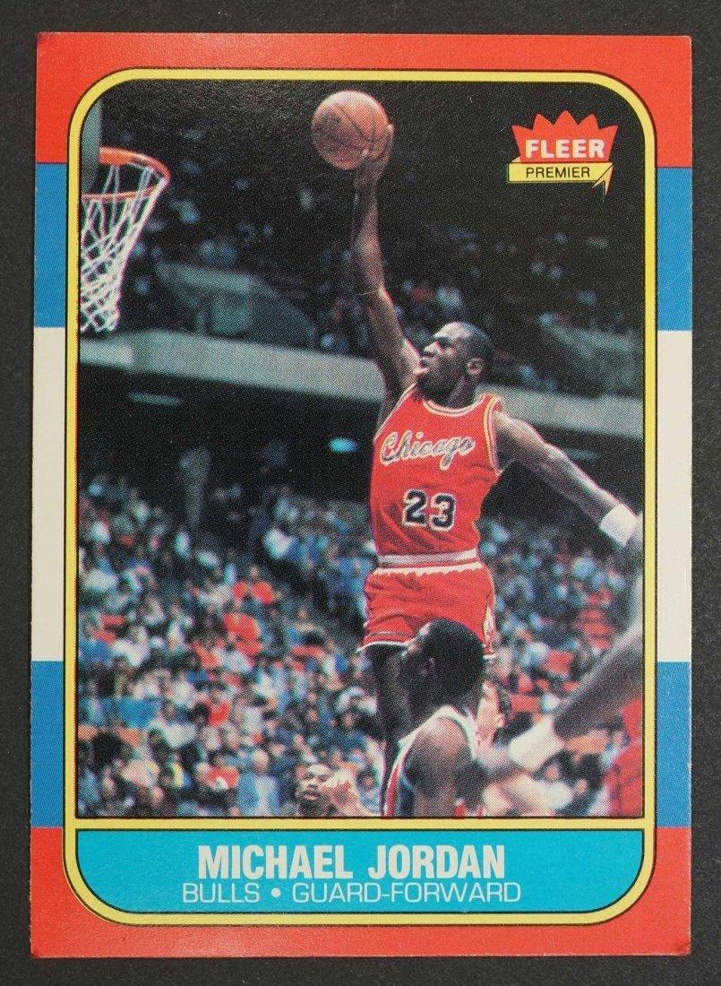 1986-87 Fleer Michael Jordan Rookie Card. VG/VG+