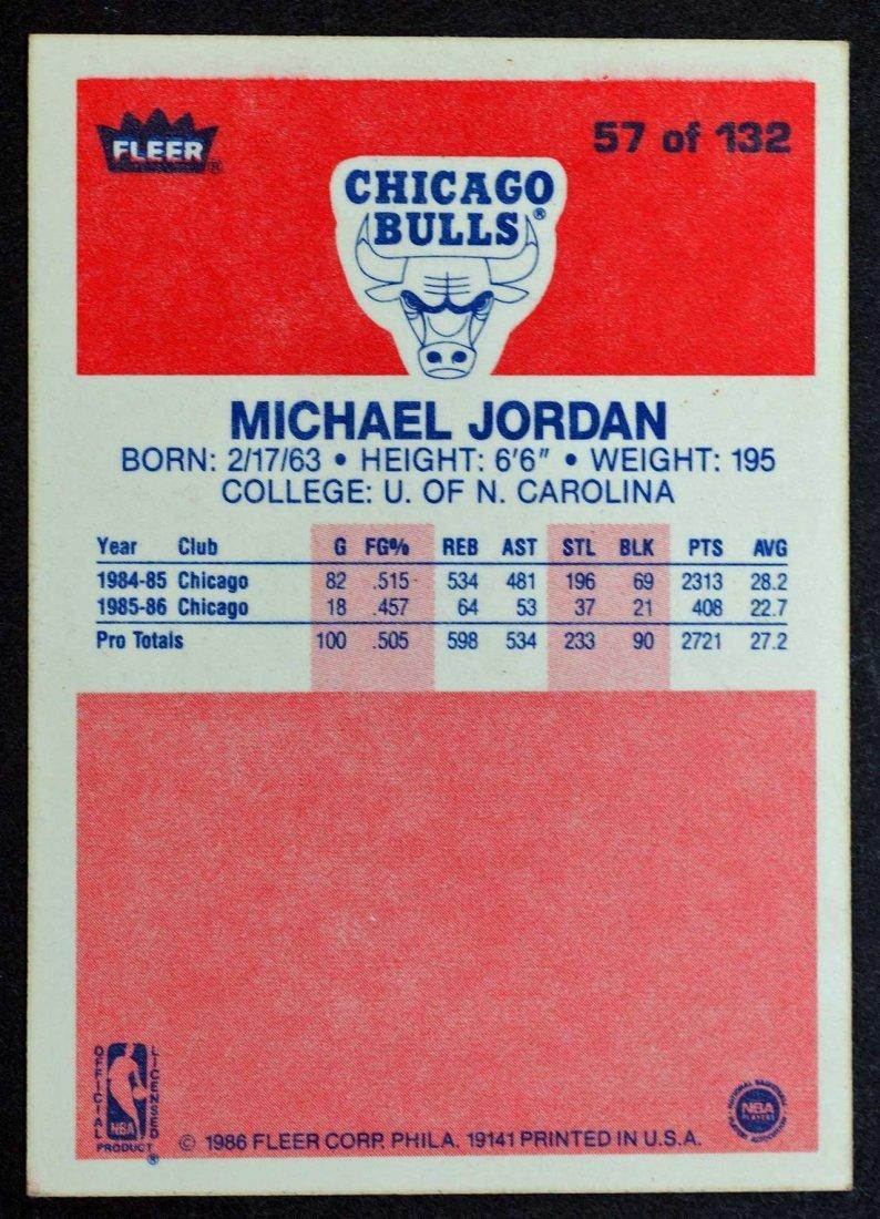 1986-87 Fleer Michael Jordan Rookie Card. VG/VG+ - 2