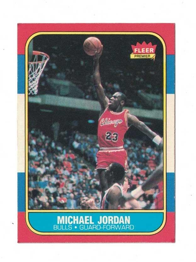 1986-87 Fleer Michael Jordan Rookie Card. VG/VG+ - 3