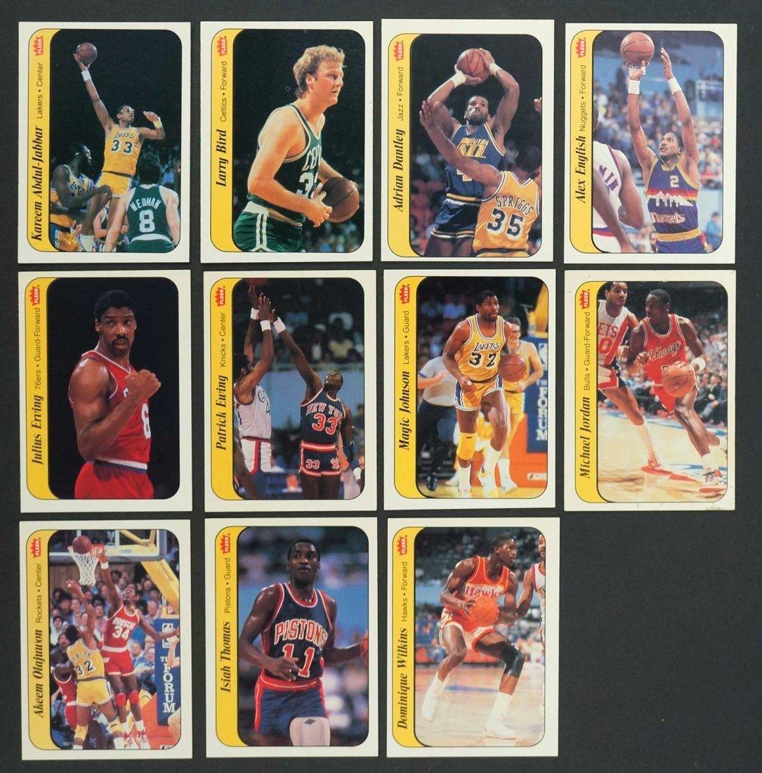 1986-87 Fleer Basketball Complete Sticker Set. 1-Jabbar
