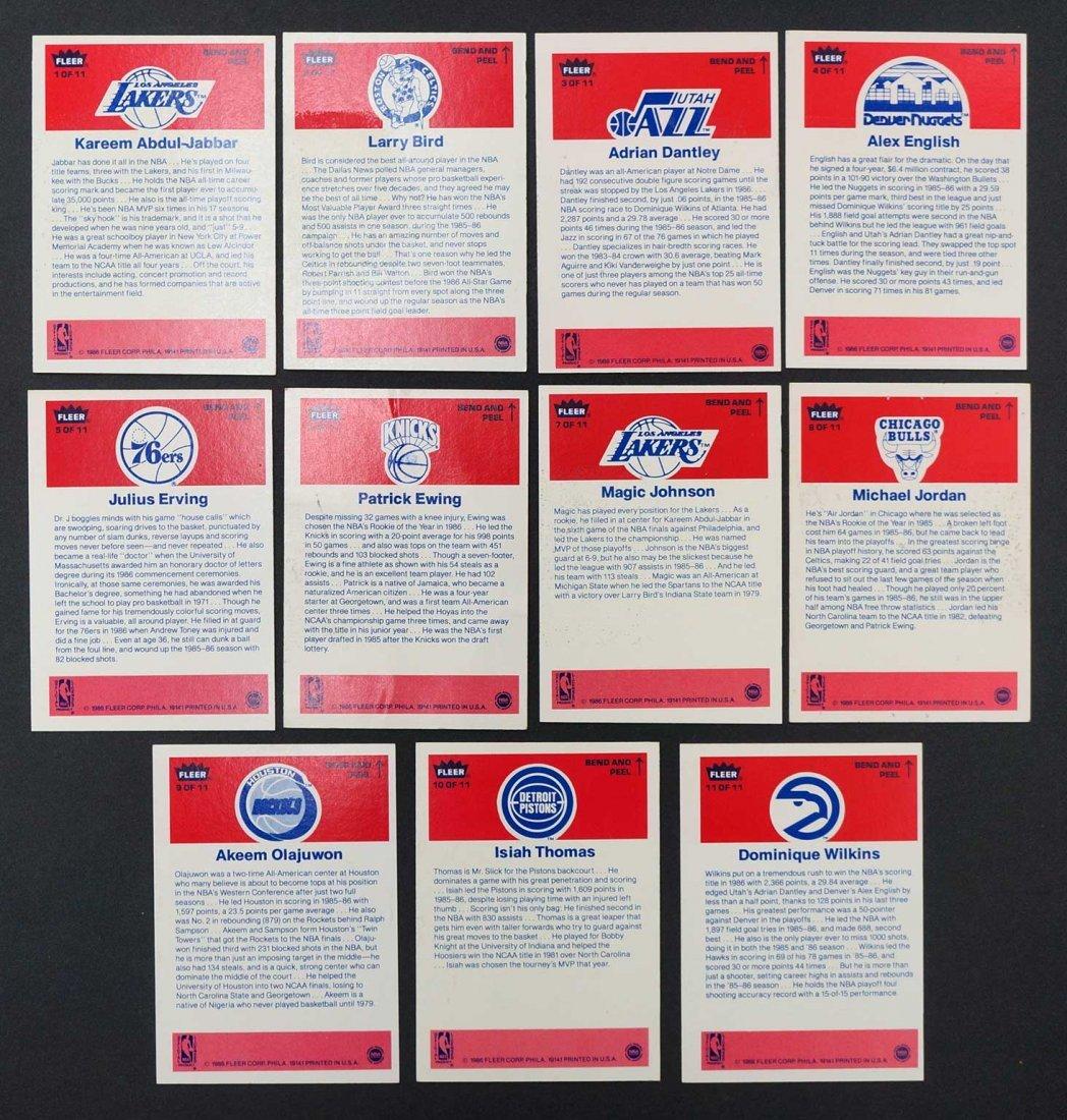 1986-87 Fleer Basketball Complete Sticker Set. 1-Jabbar - 2