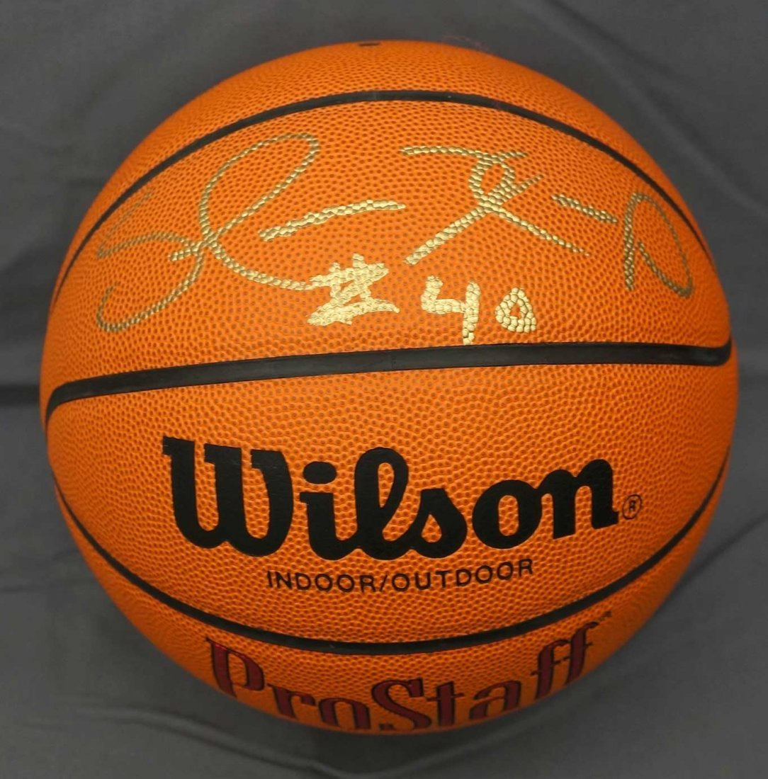 Shawn Kemp Single Signed Basketball. From a signing