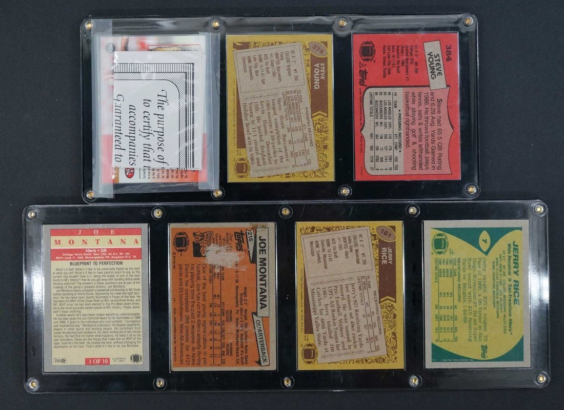 San Francisco 49'ers Display of Signed Rookie Cards, - 2