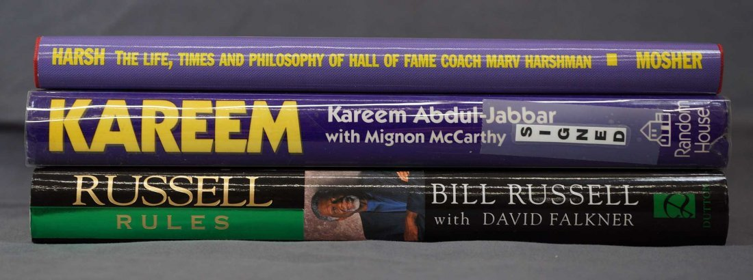 Three Signed Basketball Biographies. All Signed Stated