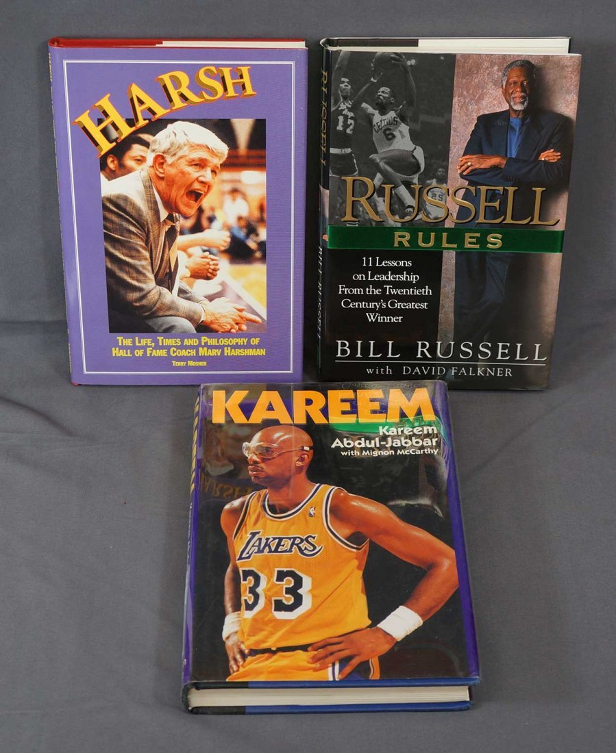 Three Signed Basketball Biographies. All Signed Stated - 2