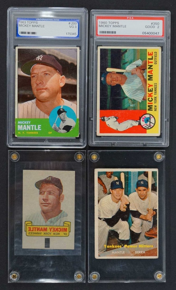Mickey Mantle Cards (4)