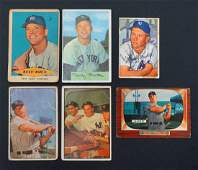 Mickey Mantle Group of 6 Baseball Cards in Various